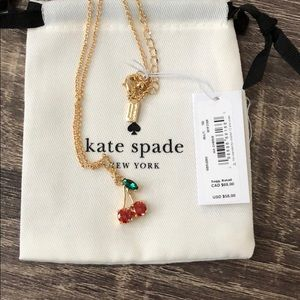 Kate Spade Ma Cherrie Cherry Necklace NWT